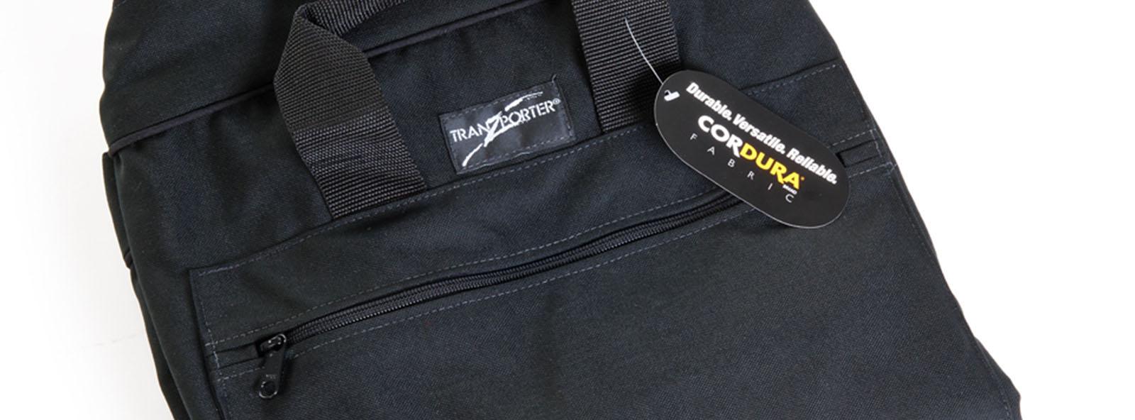 Folded portfolio case with pocket zipper